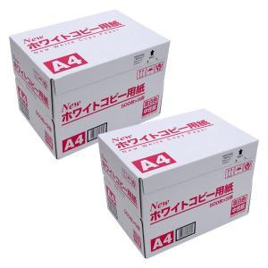 大王製紙 日本製 New ホワイトコピー用紙 高白色・中性紙 A4 2500枚×2セット (5000枚) 高白色 A4 5000枚|komamono