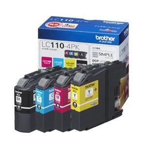 【純正インク】ブラザー工業(Brother) LC110インクカートリッジ 4色セット LC110-4PK|komamono