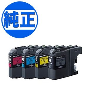 【純正インク】ブラザー工業(Brother) LC211 インクカートリッジ 4色セット LC211-4PK|komamono