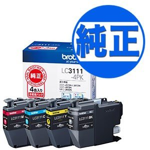 ブラザー工業(Brother) 純正インク LC3111インクカートリッジ 4色パック LC3111-4PK 4色セット|komamono