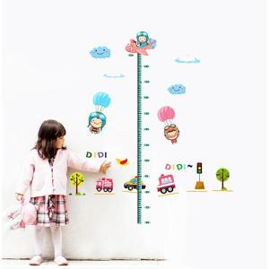貼ってはがせる簡単ウォールステッカー <楽しいおともだちの身長計>|komamono