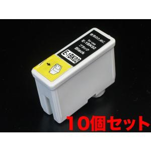 IC1BK02 エプソン用 IC02 互換インクカートリッジ ブラック 10個セット ブラック10個セット|komamono