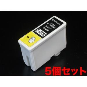 IC1BK02 エプソン用 IC02 互換インクカートリッジ ブラック 5個セット ブラック5個セット|komamono