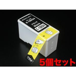 IC04 エプソン用 互換 インクカートリッジ ブラック IC1BK04 5個パック ブラック 5個パック|komamono
