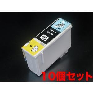 IC05 エプソン用 互換 インクカートリッジ ブラック 10個パック IC1BK05 ブラック10個パック|komamono