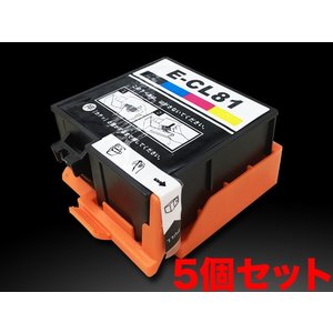 ICCL81 エプソン用 IC81 互換インクカートリッジ 4色一体型×5個セット|komamono