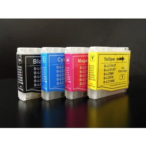 ブラザー用 LC10互換インクカートリッジ4色セット LC10-4PK LC10 4色セット|komamono