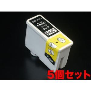 MJIC エプソン用 互換 インクカートリッジ ブラック MJIC7 5個パック ブラック 5個パック|komamono