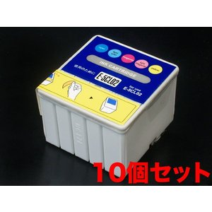 IC5CL02 エプソン用 IC02 互換インクカートリッジ カラー 10個セット カラー10個セット|komamono