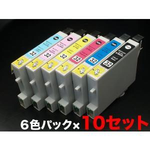 IC6CL32 エプソン用 IC32 互換インクカートリッジ 6色×10セット 6色セット ×10パック|komamono