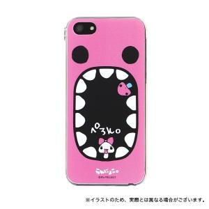 (処分セール)(即納)Ranzuki らんにょこ。iPhoneSE/iPhone5S/iPhone5専用キャラクタージャケット (メール便送料無料) ピンク|komamono