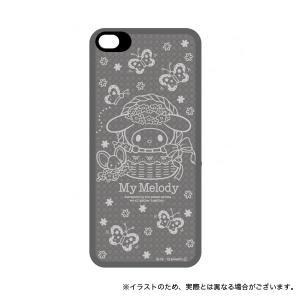 iFlash iPhoneSE/iPhone5S/iPhone5専用 マイメロディー 蝶蝶|komamono