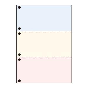 プリンタ帳票カット紙 汎用マルチカット スタンダード用 カラー A4 3分割 6穴 500枚×2冊セット SW-C36 (メーカー直送品)|komamono