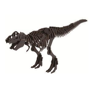 hacomo ハコモ ダンボール工作キット BLACK LABEL ティラノサウルス ブラック THM-2573【メール便可】