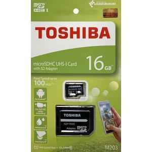 東芝 16GB microSDHCカード CLASS10 UHS-I アダプタ付(英語パッケージ) THN-M203K0160A2|komamono