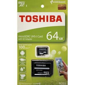 東芝 64GB microSDHCカード CLASS10 UHS-I R アダプタ付(英語パッケージ)THN-M203K0640A2|komamono