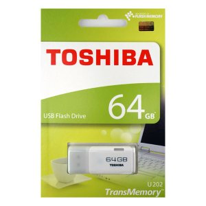 東芝 TransMemory USBメモリ 64GB ホワイト THN-U202W0640A4 [英語・紙パッケージ]|komamono