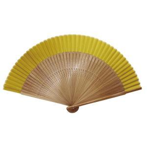 シヤチハタ Shachihata 絹製扇子 さし袋つき(ひご長タイプ)やまぶきちゃ TSS-ASH5|komamono