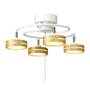 ヤザワ LED ひも式 S字 4灯 シーリングライト 天井照明 Y07CEL40L03WH (sb) ホワイト|komamono