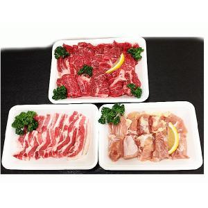 鳥取県産 焼肉セット 1kg(3〜5人前) 牛肉 豚肉 鶏肉 焼き肉 バーベキュー BBQ ファミリーセット たっぷり1キロ 送料無料|komatsuya-plan|03