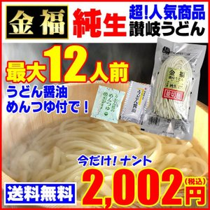 2002円⇒●1000円 送料無料 純生金福讃岐 うどん 1...