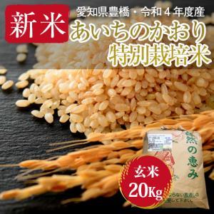 【農薬不使用・一等米】愛知県産 ・特別栽培米 あいちのかおり 玄米20kg|kome2