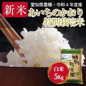【農薬不使用・一等米】愛知県産 ・特別栽培米 あいちのかおり 白米5kg|kome2