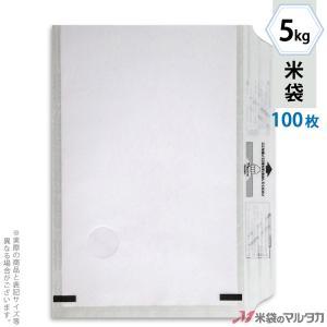 米袋 レーヨン和紙 モテるんパック 無地 5kg用 100枚セット HY-2000 komebukuro