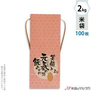 米袋 2kg用 銘柄なし 100枚セット KH-0033 元氣の源|komebukuro