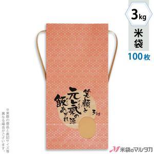 米袋 3kg用 銘柄なし 100枚セット KH-0033 元氣の源|komebukuro