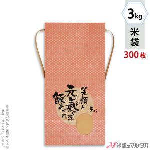 米袋 3kg用 銘柄なし 1ケース(300枚入) KH-0033 元氣の源|komebukuro