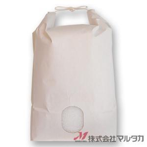 米袋 5kg用 無地 1ケース(300枚入) KH-0850 白クラフト 窓あり|komebukuro|02