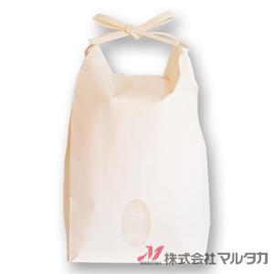 米袋 1〜1.5kg用 無地 20枚セット KH-0850 白クラフト 窓あり|komebukuro|02