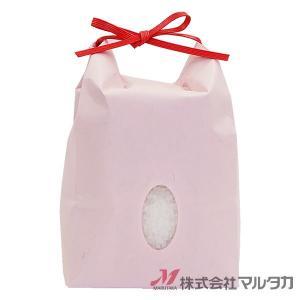 米袋 1〜1.5kg用 無地 100枚セット KH-0870 カラークラフト さくら 窓あり|komebukuro|02