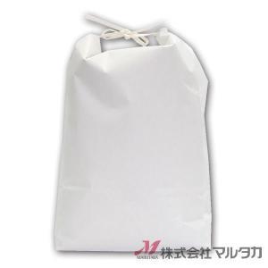 米袋 5kg用 無地 1ケース(300枚入) KHP-841 白クラフト 保湿タイプ 窓なし|komebukuro|02