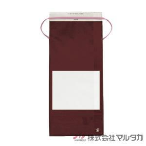 米袋 5kg用 無地 100枚セット KHP-863 カラークラフト 保湿タイプ エンジ 窓あり|komebukuro|04