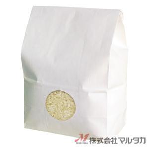 留具付米袋 1kg用 無地 50枚セット KHS-813 白クラフト 保湿タイプ 窓あり|komebukuro|02