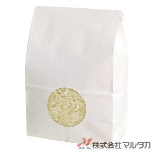 留具付米袋 300〜450g用 無地 50枚セット KHS-813 白クラフト 保湿タイプ 窓あり|komebukuro|02