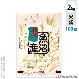 米袋 雲龍和紙 フレブレス 魚沼産こしひかり 金波 2kg用 100枚セット MK-0110|komebukuro