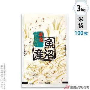 米袋 雲龍和紙 フレブレス 魚沼産こしひかり 金波 3kg用 100枚セット MK-0110|komebukuro