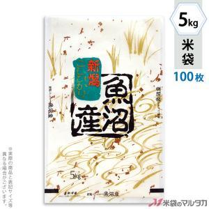 米袋 雲龍和紙 フレブレス 魚沼産こしひかり 金波 5kg用 100枚セット MK-0110|komebukuro
