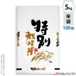 米袋 雲龍和紙 フレブレス 特別栽培米 自然がいちばん 5kg用 100枚セット MK-0251 komebukuro