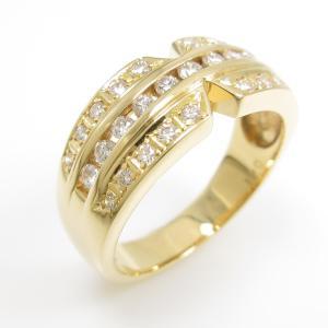 K18YG ダイヤモンドリング|komehyo