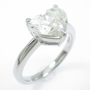 プラチナダイヤモンドリング 1.565ct・L・SI2・ハートシェイプ|komehyo