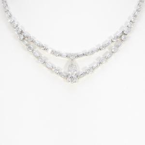 ブルガリ ダイヤモンドネックレス 1.51ct・F・IF・ペアシェイプ|komehyo