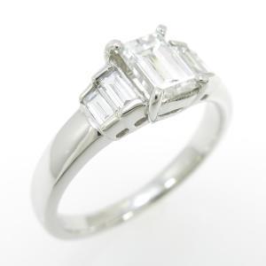プラチナダイヤモンドリング 0.699ct・F・SI1・ファンシーカット|komehyo