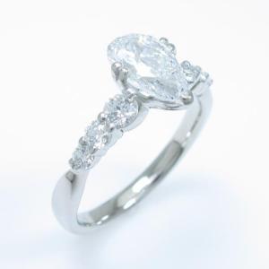 プラチナダイヤモンドリング 1.031ct・E・SI2・ペアシェイプ|komehyo