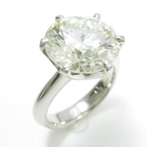 プラチナダイヤモンドリング 7.030ct・M・SI1・EXT|komehyo