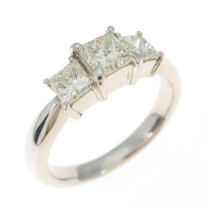 プラチナダイヤモンドリング 0.998ct・L−M・VS1−2・プリンセスカット|komehyo