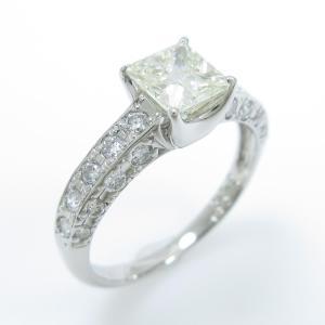 プラチナダイヤモンドリング 0.776ct・VLY・I1・プリンセスカット|komehyo
